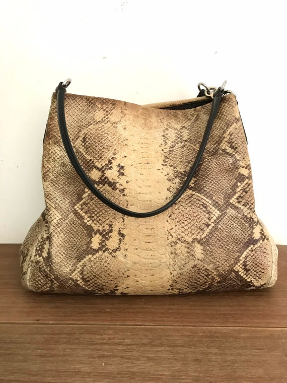 Coach hobo bag Coach bag Coach snakeskin leather b