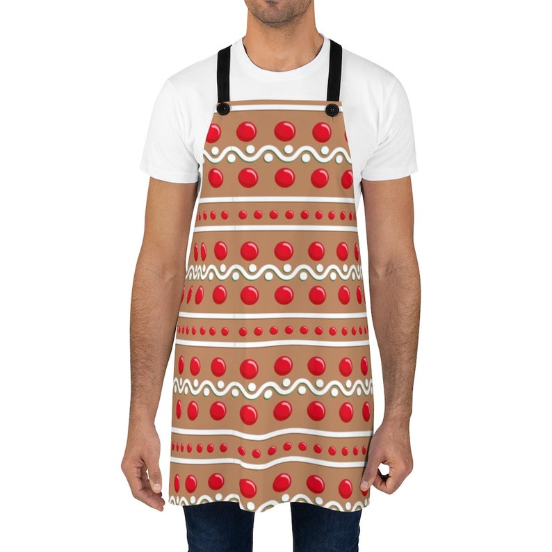 Work Colleague Gift Christmas Apron. Navy Linen Apron for Women Holiday Apron for Men