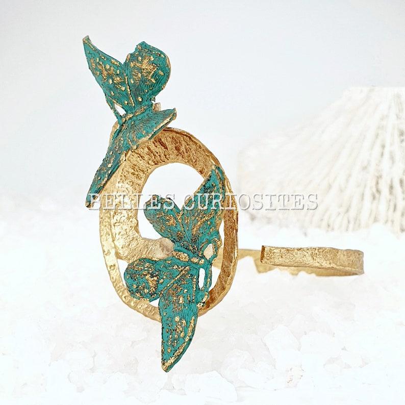Large statement bracelet Butterfly bracelet