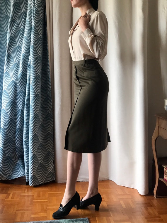 Vintage pin-up pencil skirt 1940 40's 1950 50's - image 2