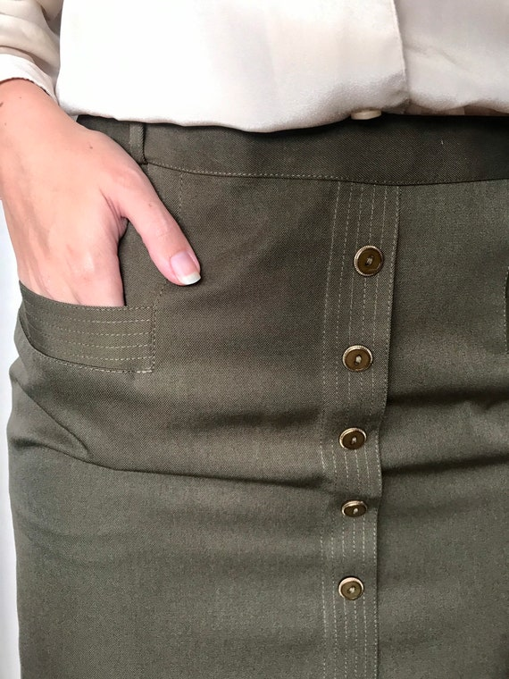 Vintage pin-up pencil skirt 1940 40's 1950 50's - image 4