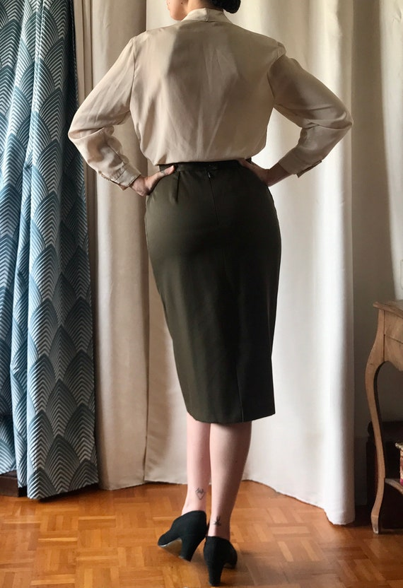 Vintage pin-up pencil skirt 1940 40's 1950 50's - image 3