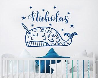 Licorne Arc en ciel nuage étoile cœur Wall Decal Wall Sticker Kids Nursery Decor #zx