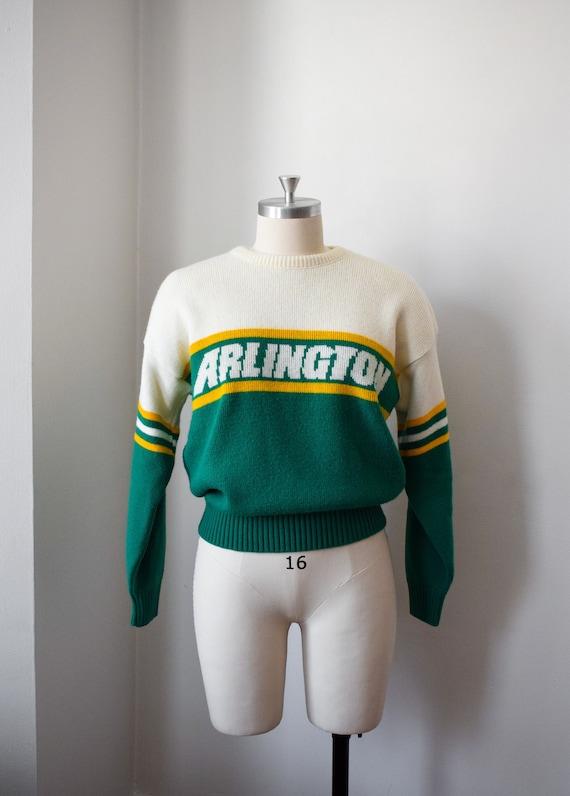 1980's Preppy Intarsia Sweater - Varsity Pullover - image 2