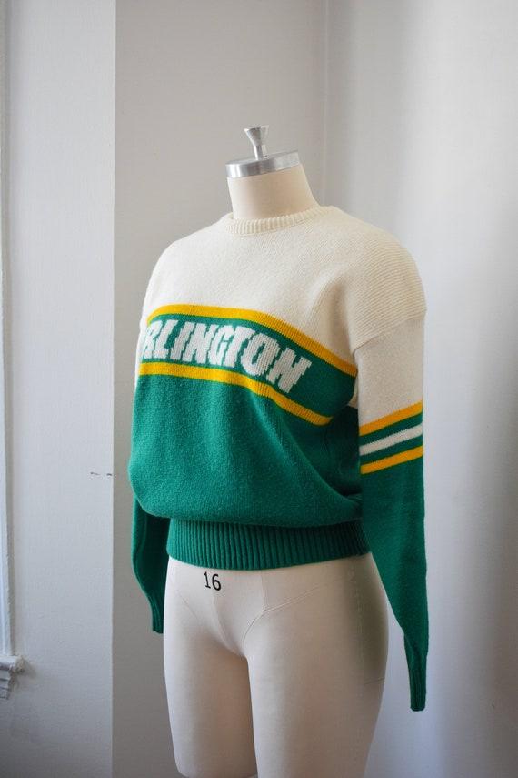 1980's Preppy Intarsia Sweater - Varsity Pullover - image 3
