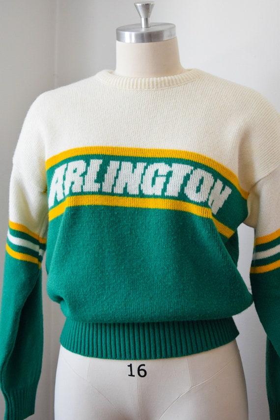 1980's Preppy Intarsia Sweater - Varsity Pullover - image 4