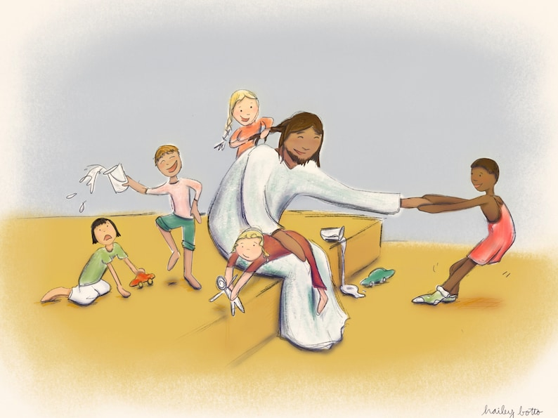 Let the little children come. Jesus and children. image 1