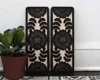 Windflower Panels | Flower Wall Hanging (Set of 2)