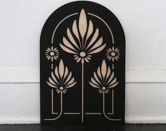 Lotus Flower Arch | Lotus Wood Wall Hanging