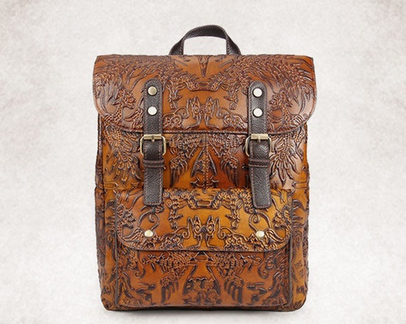 Leather backpack women, laptop bag, vintage bag, womens bag, makeup bag, cosmetic, gift for her, work travel mini backpack, handmade leather