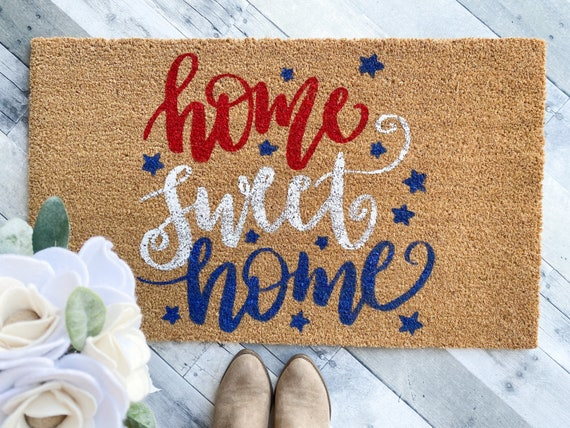 Red White and Blue doormat