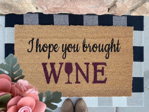 Door Mat- Wine
