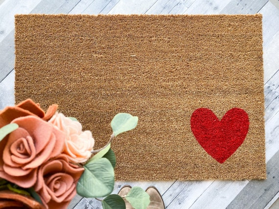 LARGE Simple Heart Doormat