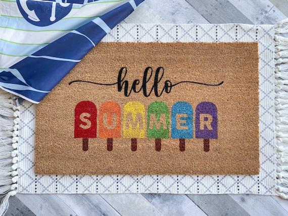 Summer Popsicle Doormat