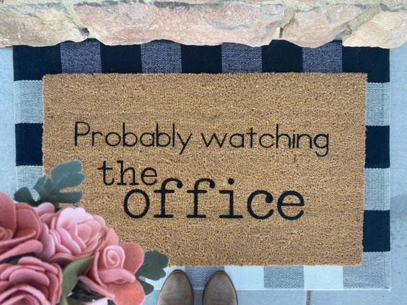 Probably Watching The Office Doormat