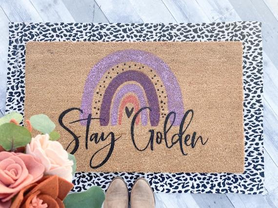 Stay Golden/Rainbow Doormat