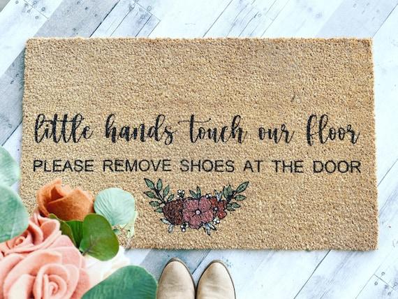 Little Hands Touch our Floor / New mom doormat