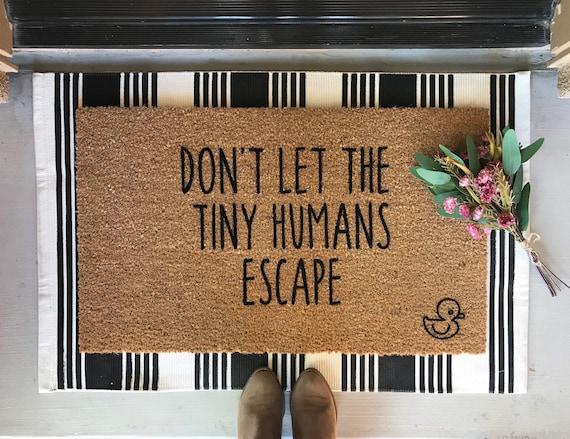 Tiny Humans Door Mat