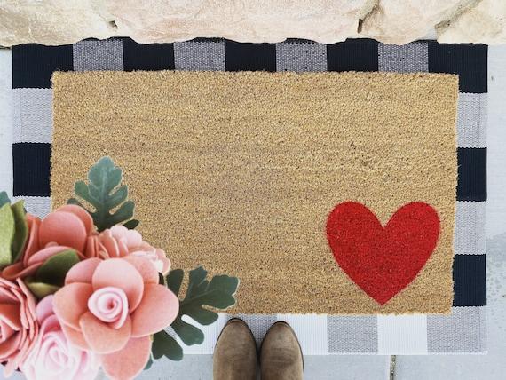 Simple Heart Doormat