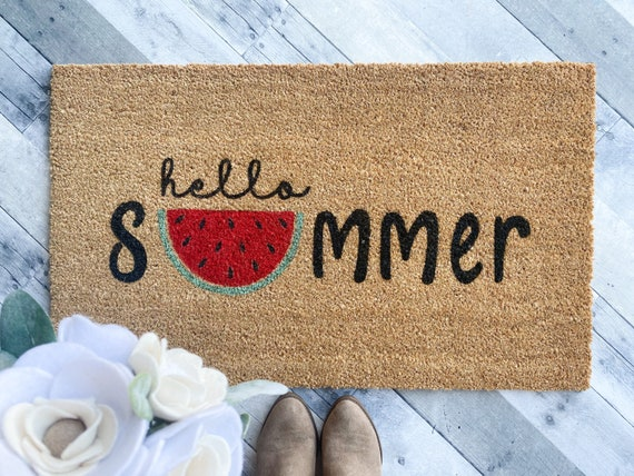 Hello Summer Watermelon Doormat