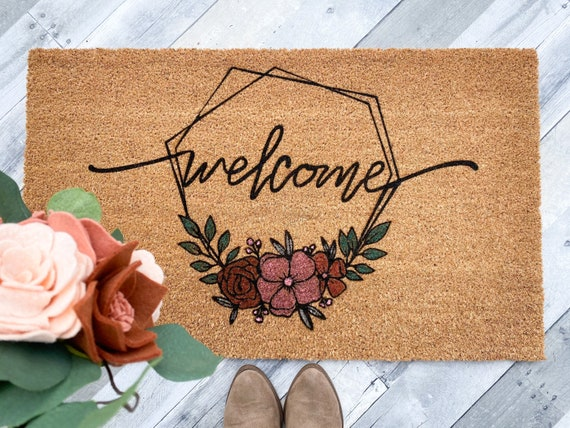 Welcome W/Florals