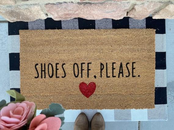 Shoes off, please.