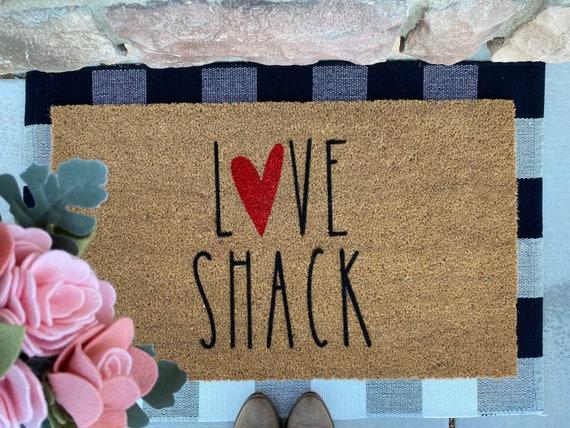 Love Shack Doormat/Valentines/Valentines doormat