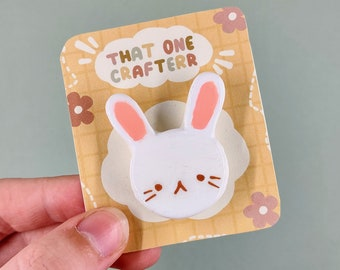 CraftyBunniesStudio Handmade Cute Clay Pendent BunnySunDonutPlanetCake pop