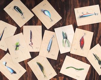 Custom Lure Paintings -  Your Favorite Lure, Original Fine Art, Personalized, Fisherman Gift, Fly Fishing Gift, Fishing Lure, , Fish Art