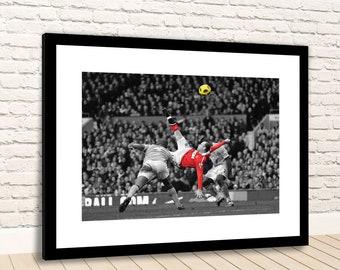 WAYNE ROONEY 2011 Overhead Minimalist Manchester Utd Football Poster Minimal