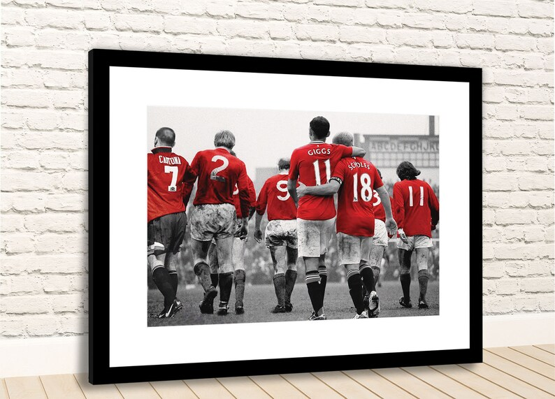 Manchester United Legends Cantona Charlton Giggs Scholes | Etsy