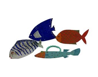Set of 4 KOI Fish Napkin Rings
