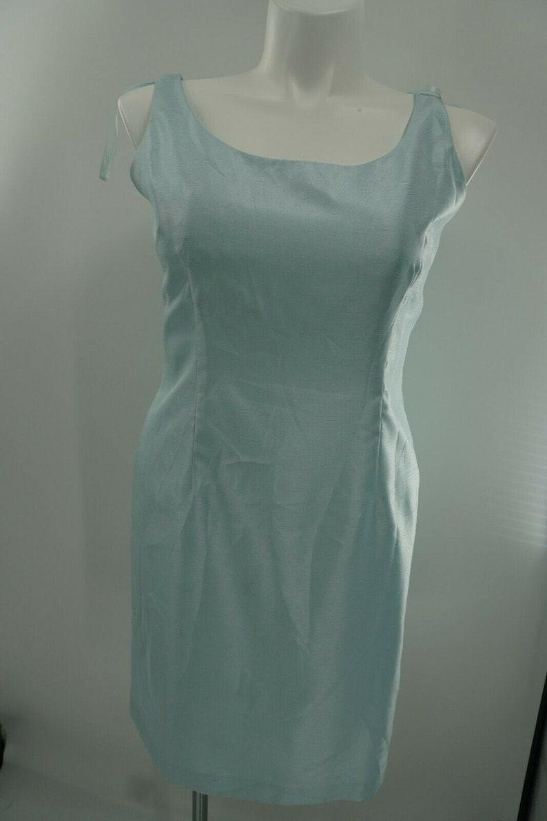 Jessica Howard Sky Blue Sleeveless Cocktail Slit Mother Of Bride Dress Size 14