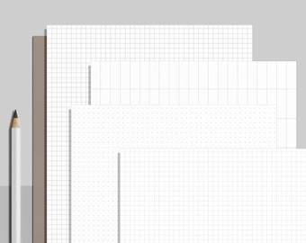 Printable Paper, Bullet Journal Paper, Bujo Paper, Dot Grid Printable Paper, Dot Grid Paper, Dashed Grid Paper, A4/A5/B5/Letter/Half pdf