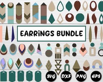 Wood Earring Svg Etsy
