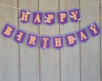 Happy Birthday Butterfly Banner