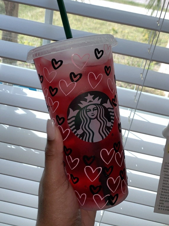 Red Heart Starbucks Cup