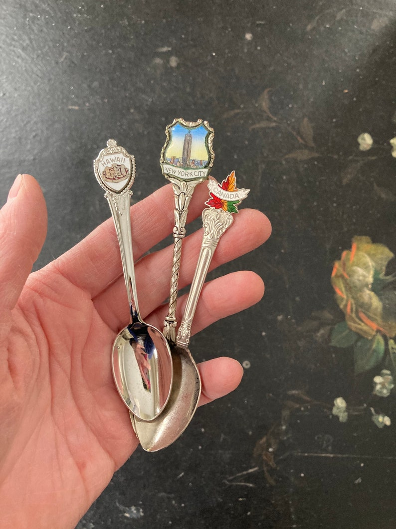 New York and Canada Lovely souvenir spoons from Hawaii