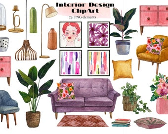 Living Room With Houseplants Scene Vector Illustration Design Royalty Free  Cliparts, Vectors, And Stock Illustration. Image 104138532.