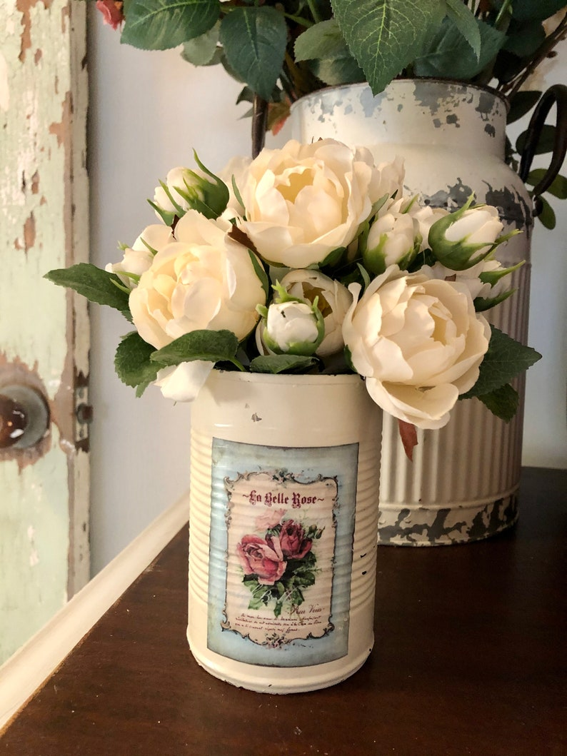 pencil holder Corn can transformed into a useful vase extra change etc. silverware holder