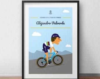 Alejandro Valverde cycling art print