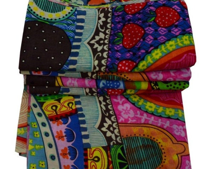 Ethnic Indian Cotton Handmade Women Clothing Running Loose Craft Sewing Fabric By The Yard Throw Beautiful Patchwork Print Dressmaking Decor