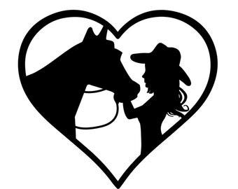 COWBOY HAT HORSE BODY Vinyl Decal Sticker C