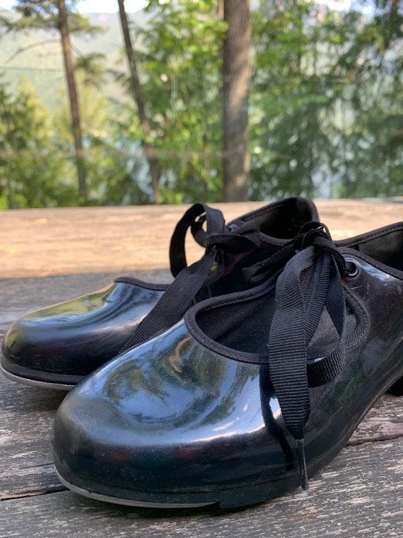 Vintage tap shoes black patent leather bloch tap d
