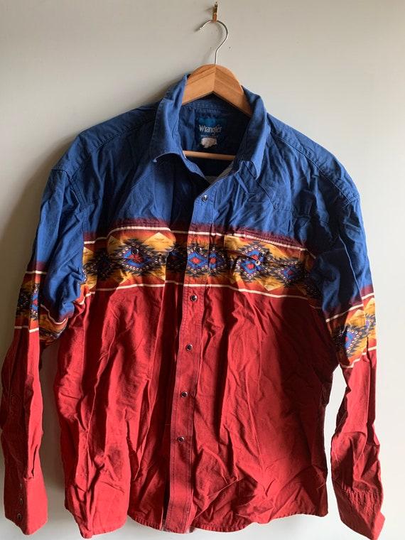 Wrangler shirt, wrangler western, Navajo shirt, co