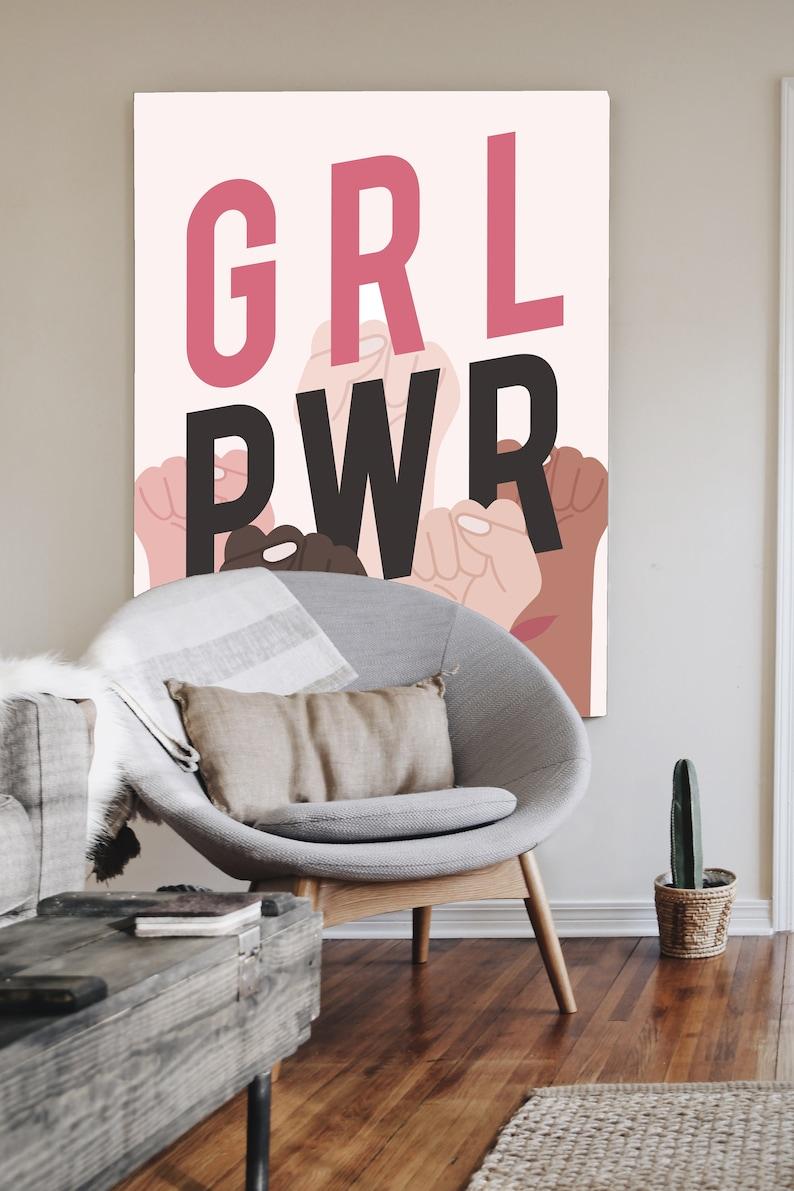 Feminist Poster Strong Female Art Feminist Nursery Art Empowered ...