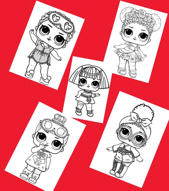 5 Lol Coloring Page Coloring Book Pages Printable Coloring Etsy