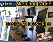 SketchUp File, Desk Top and Accessories