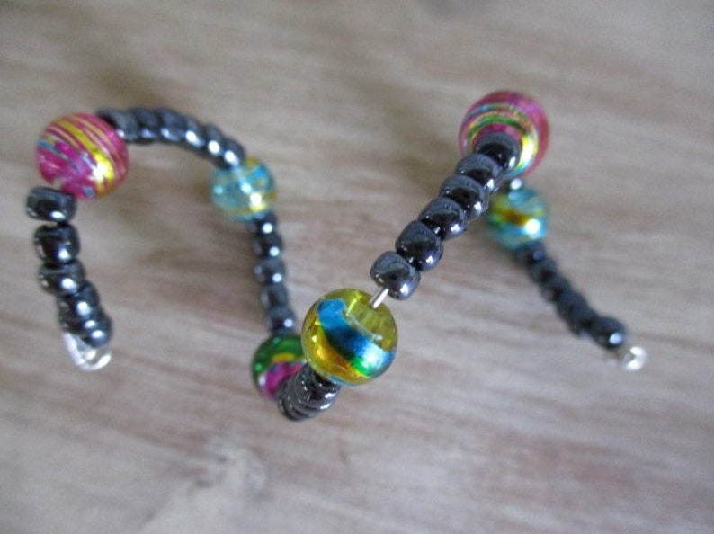 GiftHome DecorWine Decor Unique Beaded Pastels Spiral Wine Charm Set