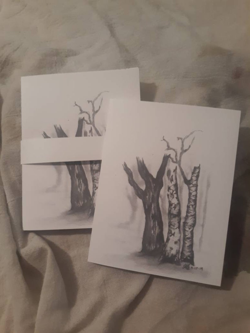 Set of 4 blank notecards